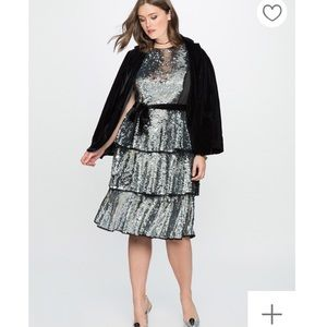 Eloquii Tiered sequin dress size 18/20